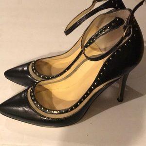 Levity Black ankle strap Pumps - Size- 8